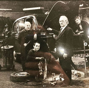 London taxi mechanics in the 70s