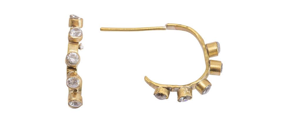 Altair 5 Diamond Hoop Earrings