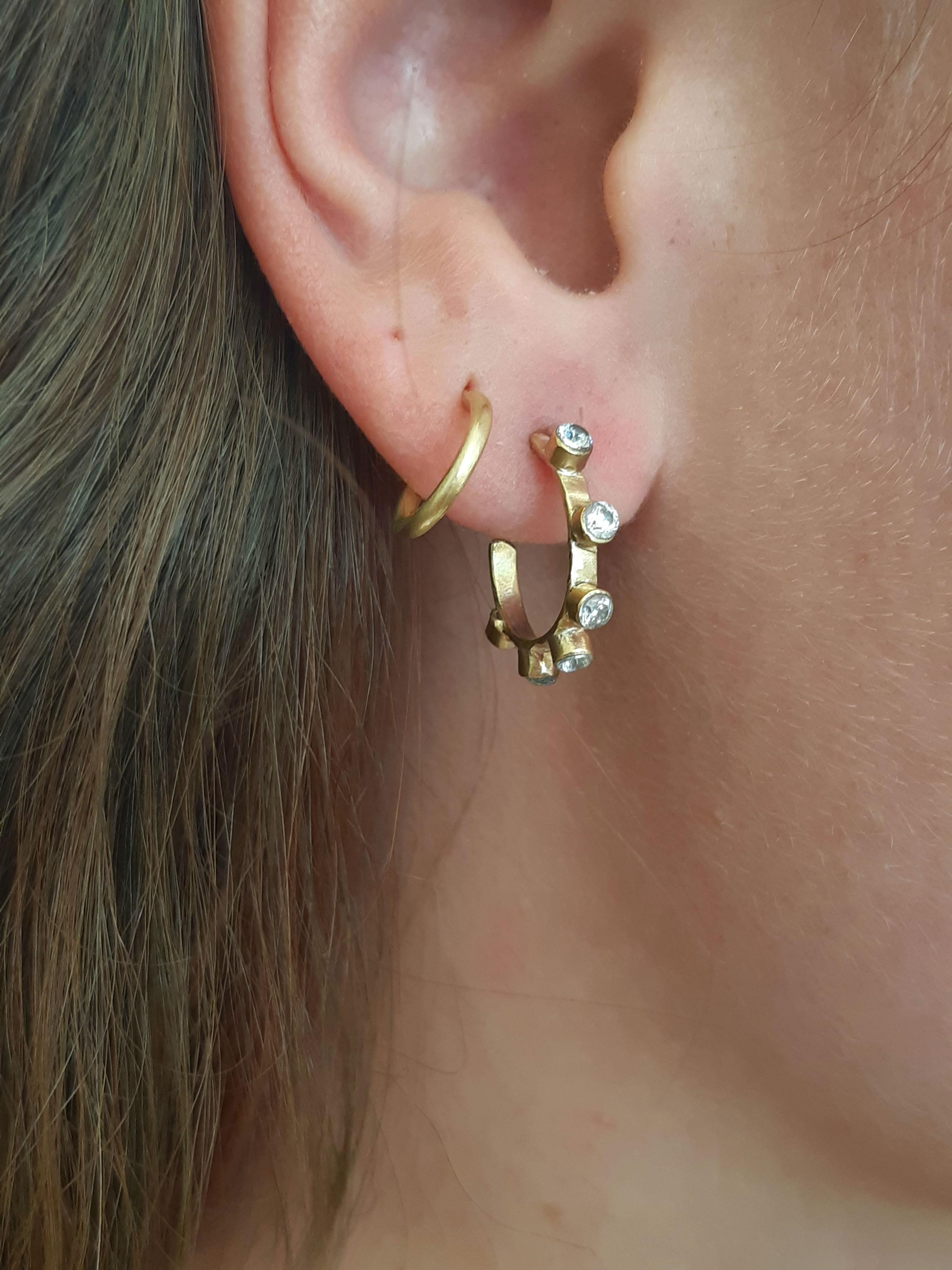 Altair 5 diamond hoops earrings