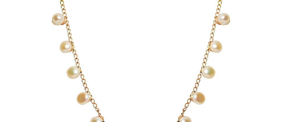 Scattered Stars Demi Necklace with Freshwater Pearls