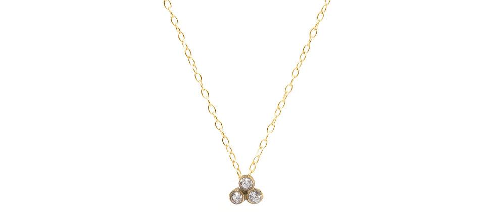 Adhara Trio Cluster Necklace