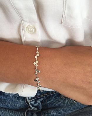 Stardust Cluster of STars bracelet Silve