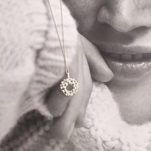 Effervescence Circle Pendant Necklace