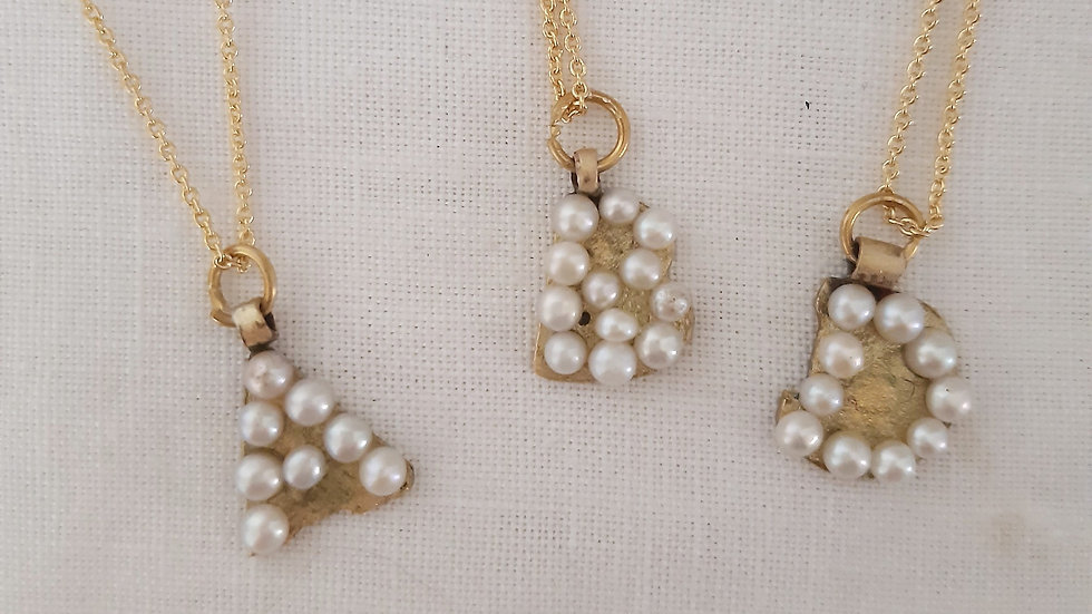Pearl Gold Love Letters