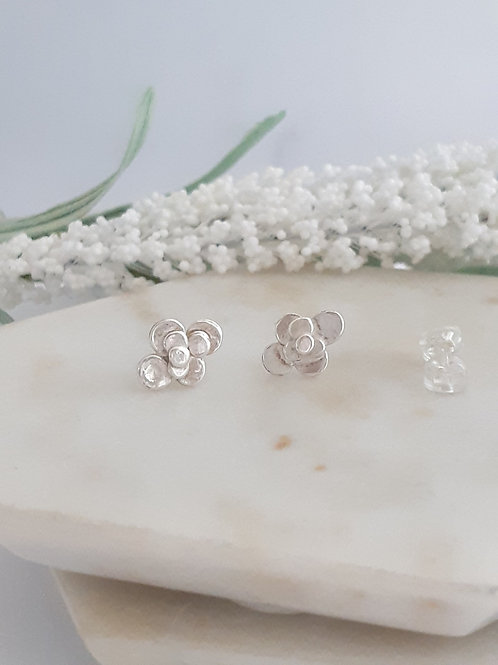 Peony Dot Stud Earrings