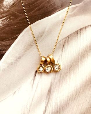 DIAMOND YELLOW GOLD 3 sizes necklace1.jp