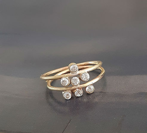 Stacking Astra Rings by Lily Flo Jewelle