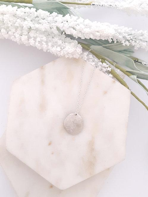 Titan Silver Disc Necklace
