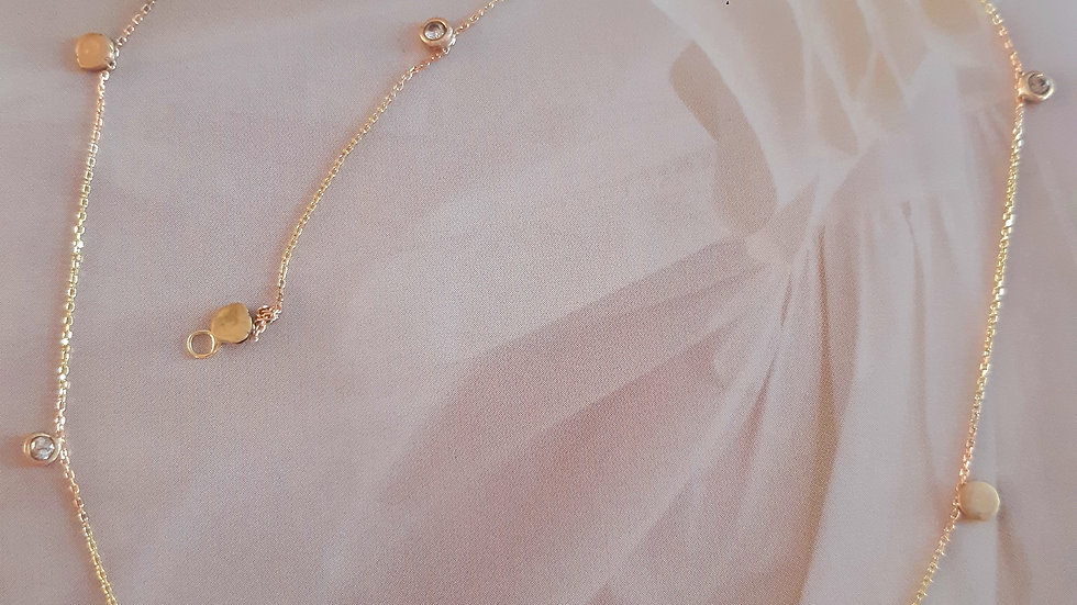 Scattered Stars Necklace with  10 Diamonds