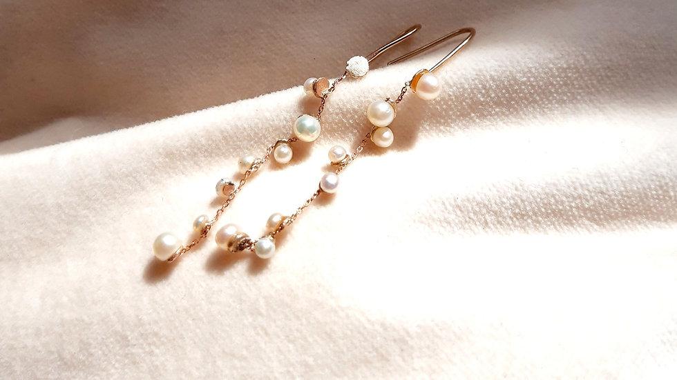 Stardust Pearl Drop Earrings