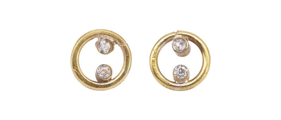 Castor Diamond Stud Earrings