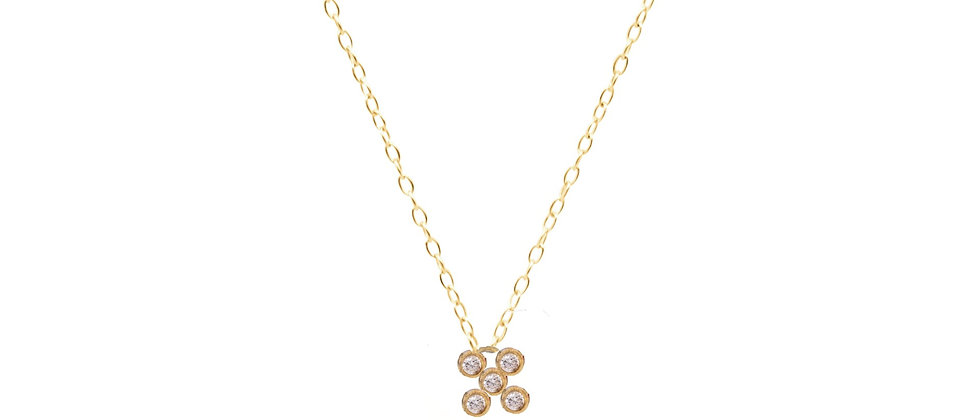 Adhara 7 Cluster Diamond Necklace