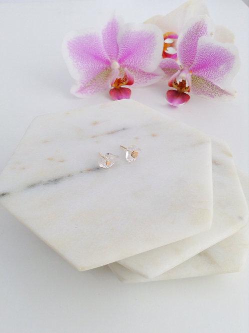 Rock Crystal Stud Earrings