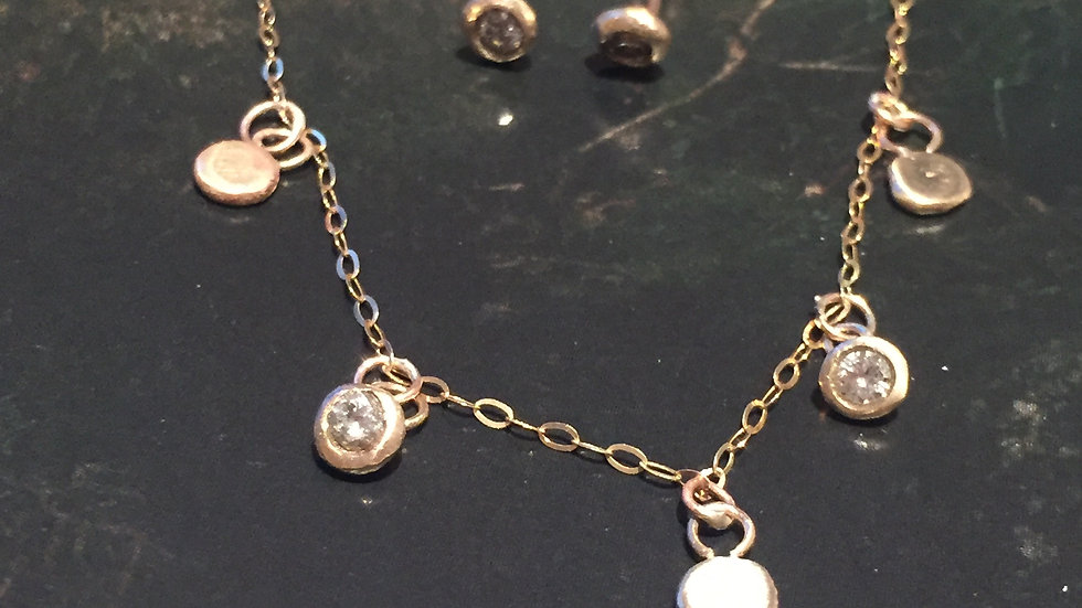 Stardrops Demi Necklace with2 diamonds
