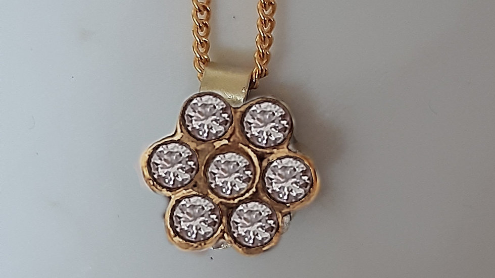 Adhara 7Cluster Diamond Necklace