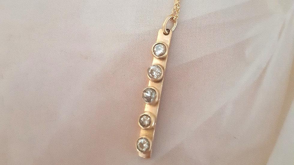Altair 5 Diamond Bar necklace