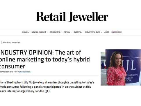 Diana Sherling spoke at The International Jewellery Show featured in Retail Jeweller