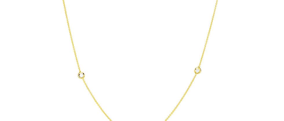 5 Diamond Station Necklace