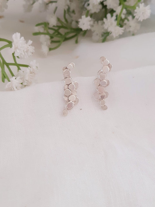 Bubbles Long Stud Earrings