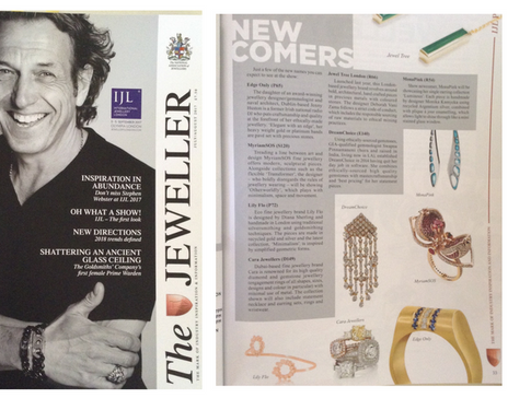 Lily Flo Jewellery's Stardust Collection is  featured in The Jeweller's best Ethical Jeweller