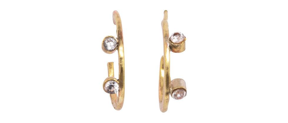 Spica Diamond Hoop Earrings
