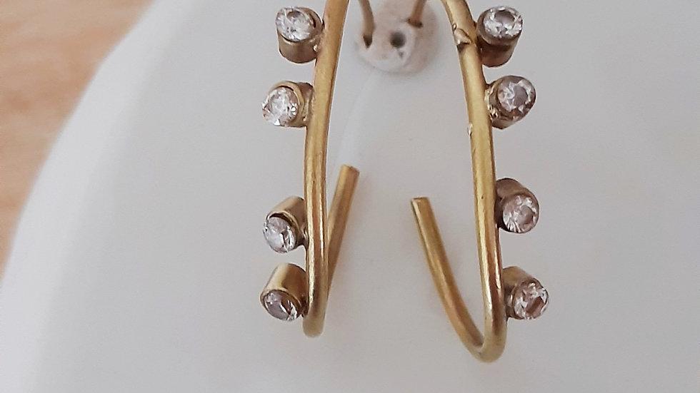 Regallus Diamond Hoop Earrings