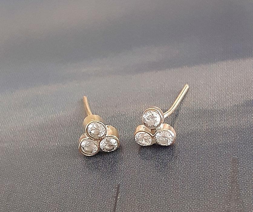 Adhara 3 diamond stud earrings from Lily