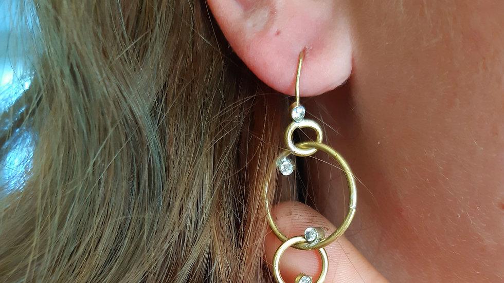 Procyon Diamond Drop Earrings