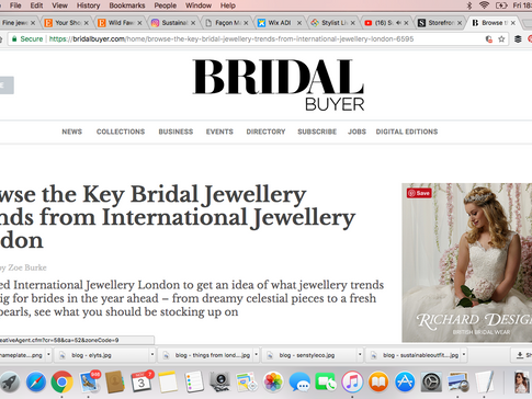 Bridal Buyer Votes Lily Flo Jewellery's Stardust Collection as one of the best Eco Fine Jewellers