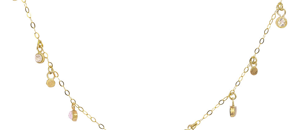 Stardrops Demi Necklace with 5 diamonds