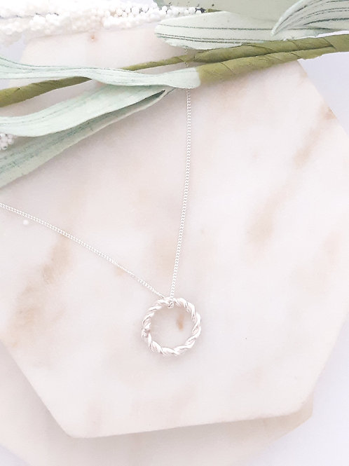 Entwined Circle Necklace