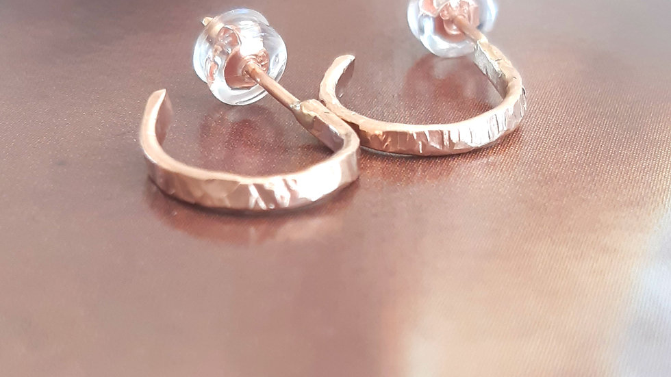 Textured Small Hoop Earrings