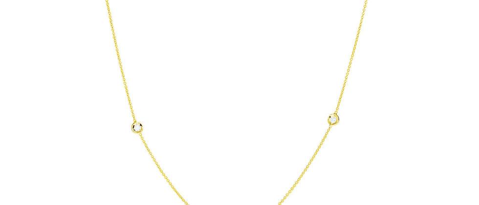3 Diamond Station Necklace
