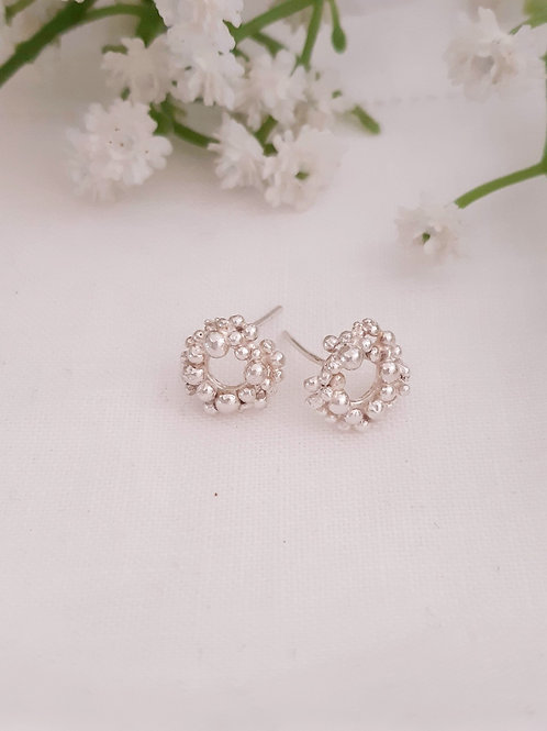 Effervescence Circle Stud Earrings