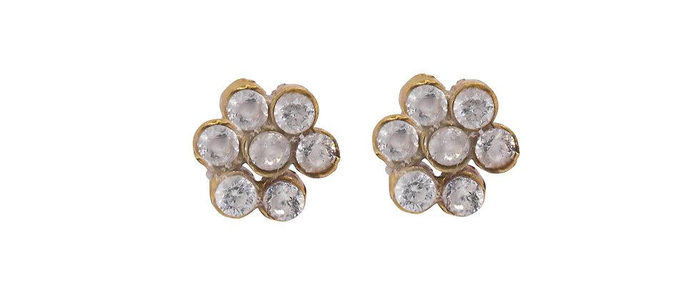 Adhara 7 Cluster Diamond Stud Earrings