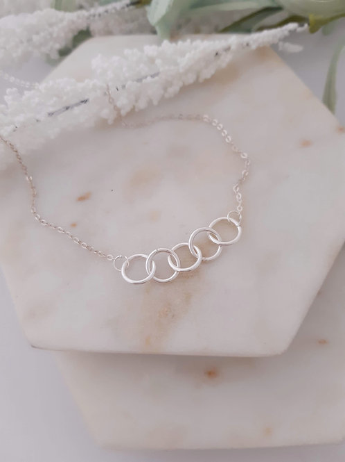 5 Ring Necklace