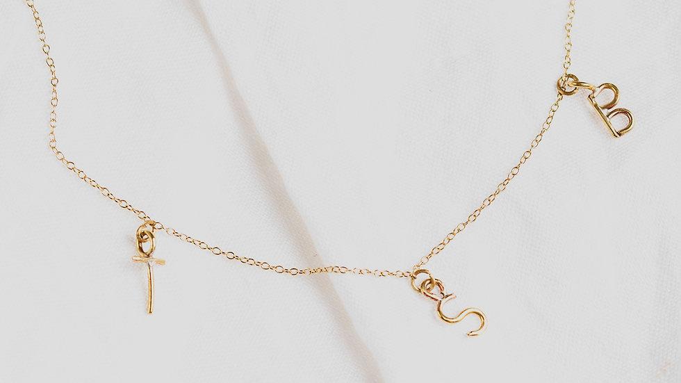 3 Love Letter necklace