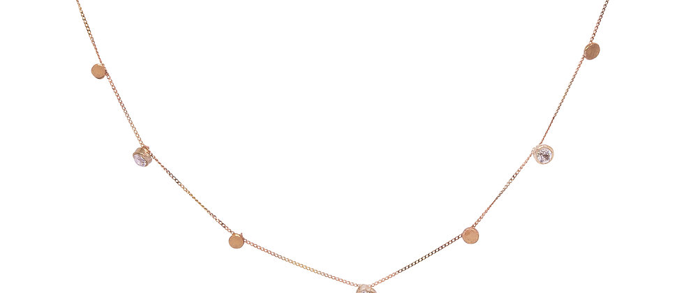 Scattered Stars Necklace with 5 Diamonds