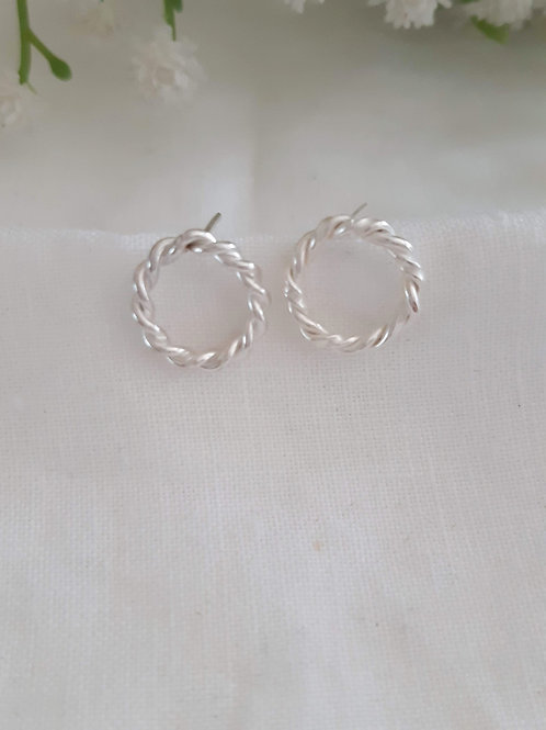 Entwined Circle Stud Earrings