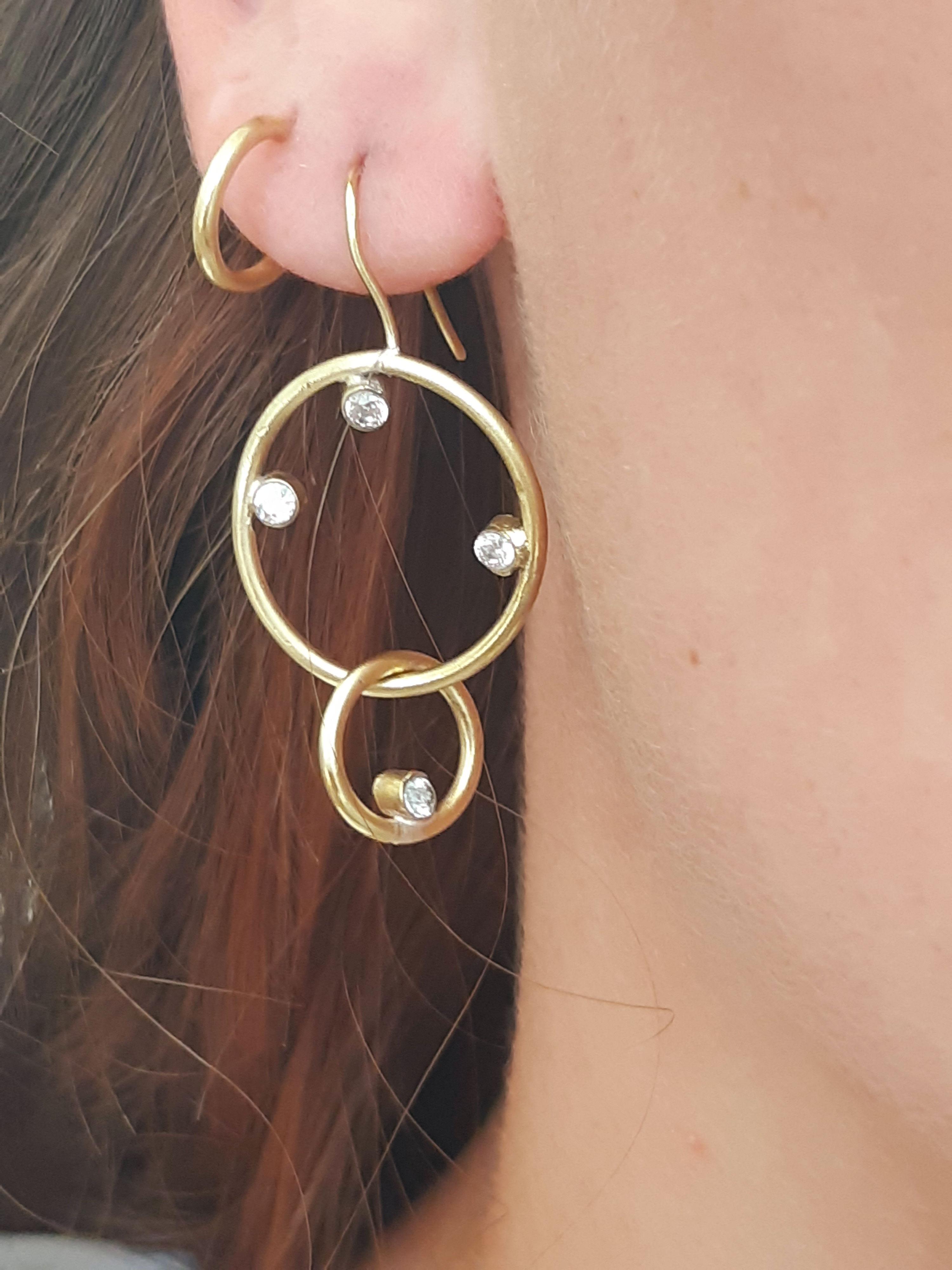 Deneb Double Drop Earrings on model