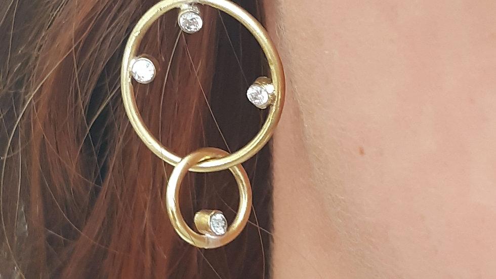 Deneb Diamond Drop Earrings
