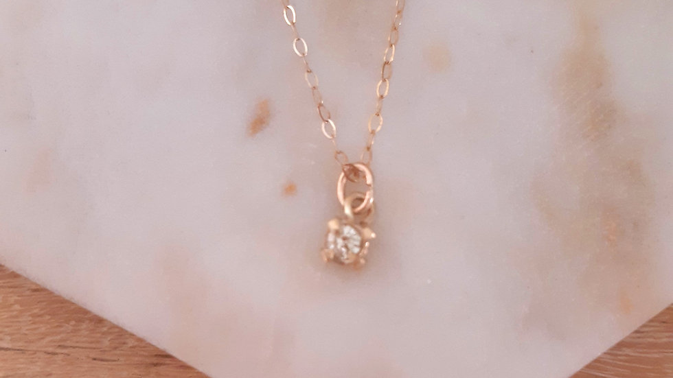 Diamond Claw Set Solitaire Necklace