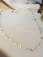 Stardust Scattered Stars Rose Gold Neckl