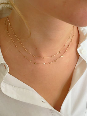 Scattered Stars DOUBLE necklace in gold2