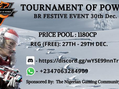T.O.P BR Festive Events 30th December