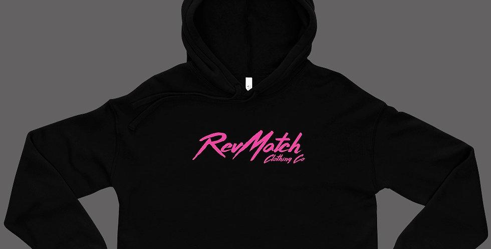 RevMatch Pink Crop Hoodie