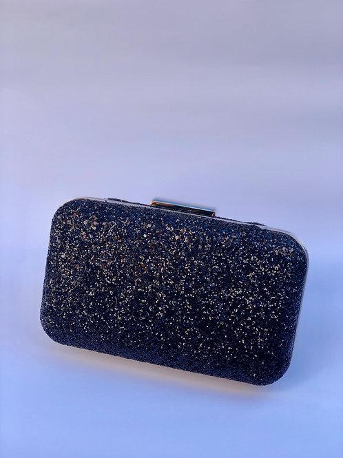 Taş işleme siyah abiye çanta