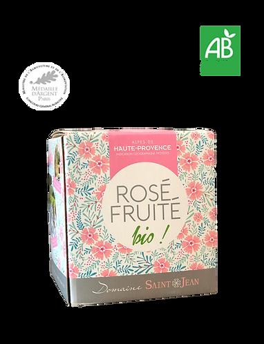 BIB 3L-5L Rosé Fruité 2019 - Domaine ST JEAN LEZ DURANCE - Haute Proven
