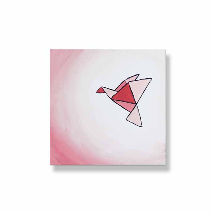 Ombre Origami Dove | Pinks