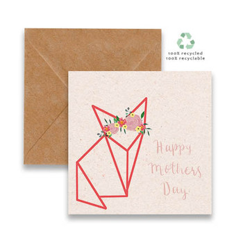 Origami FOX with crown
